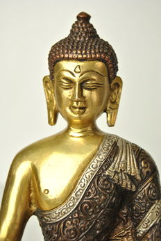 Bronze Buddha - Tibet - late 20th century