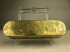 Brass tobacco box - Netherlands - 18th century