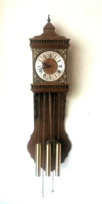 Joléma classic wall clock with Westminster chime and Bim Bam gong and three weights - 1975
