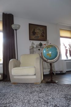 Large floor globe with lighting