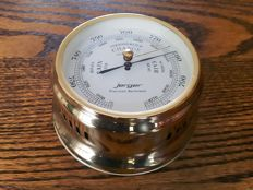 Jerger - authentic precision ship's barometer - marked on back