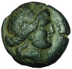 Greek Antiquity - Greek, Thessaly - Thessalian League (Late 2nd-mid 1st centuries BC) - Æ Trichalkon (20mm; 6,27g.) - Thessaly mint - Head Apollo / Athena Itonia - SNG Cop. 315-318