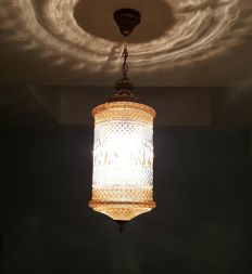 Crystal hanging lamp from the 1950 's