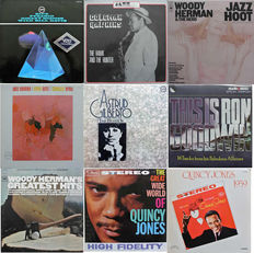 Famous JAZZ artists on famous Jazz labels. 9 albums in NM condition sleeves and media