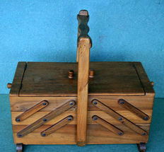 Dutch sewing box, the Netherlands, mid 20th century