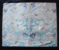 Embroidery, silk with butterflies blossoms peking knot Manchu sleeves sleeve bands  cufs - China  - ca 1880-1900