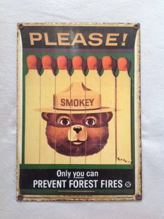 Emaille bord please - SMOKEY - 1988