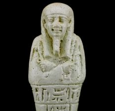 Egyptian faience Ushabti for the priest of Smentet Pa-Di-Osiris - ca. 13 cm a. 5,12 inches