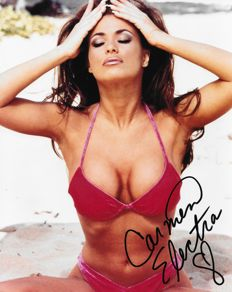 Signed; Picture of the American actress/singer and model-Carmen Electra-2015