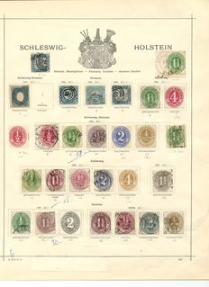 Schleswig-Holstein - 1864 to 1865, an almost complete collection with many verified pieces and Michel 1