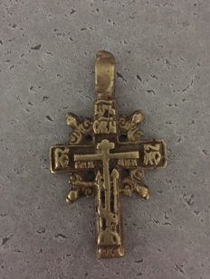 Beautiful baptism cross - ca. 1800