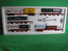 "Märklin H0 - 37091 - Five-part set ""Cargosprinter Fiege""  BR Sggoorrss 700 of DB Cargo"