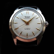 Nisus Arrow Hand Manual wind FHF calibre #28 17 jewel movement with Incabloc - Men's - 1950-60's
