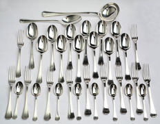 Christofle cutlery set in silver plated metal, model America
