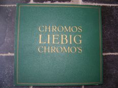 LIEBIG CHROMOS: map with 39 complete series