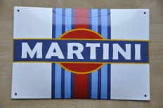 Enamel sign - MARTINI - late 20th century.