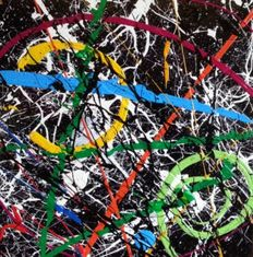 Felix von Altersheim - Hommage to Pollock, 3 D Abstract Pop Art PUR