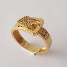 Gold (18 kt) belt ring