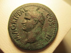 Roman Empire - Agrippa, As, issued under Caligula, 37 + 41 AD