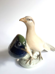 Royal Copenhagen - Figurine of 2 pheasants