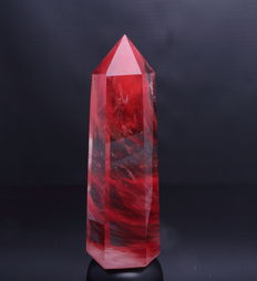 Fine, dark red Strawberry Quartz point - 26.8 x 9.7 x 8.3cm - 2.50kg