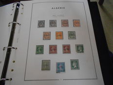 Algeria, 1924 to1977 – collection on sheets in an album.