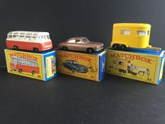 Lesney Matchbox - Misc. scales - Jaguar No.28, Pony Trailer No.48 and Mercedes Coach No.68