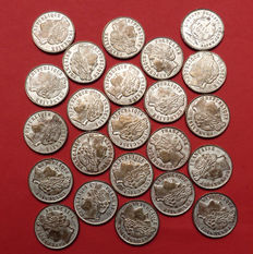 France - Fantasy token '1 Franc 1906' Cartaux - 23 pieces