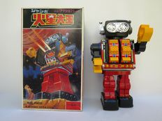 "S.H. Horikawa, Japan - Height 30 cm - Tin/plastic ""Rotate-O-Matic Super Robot with battery motor, 80s"