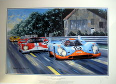 """The Great Pursuit"" - Herbert Müller/Richard Attwood Porsche 917K #19 - 24h Le Mans 1971"
