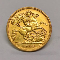 United Kingdom - ½ Sovereign 1905 Edward VII - gold