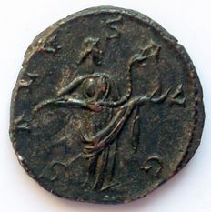 Roman Empire and the Gauls - Military anarchy. Antoninian of Victorinus, 269 AD - Salus Avg - with Snake