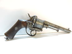 Pin fire revolver pistol Lefaucheux calibre 12 mm 1870/74 19th century
