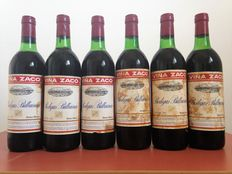 Lot of 6 bottles rioja collection: 6 Viña Zaco Reserva de 1970, from Bodegas Bilbainas