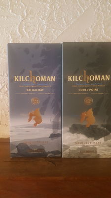 2 bottles - Kilchoman Saligo Bay & Kilchoman Couli Point