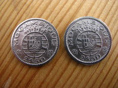 Portugal – 2.5 Escudos – 1953 and 1955 – Mozambique