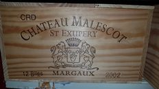 2002 Chateau Malescot-St-Exupery, Margaux - 12 bottles (75cl) in OHK