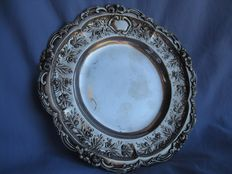 800 silver Hanau plate - Georg Roth - Germany 1891/1919 - weight 189 g -