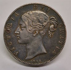 United Kingdom - Crown 1845 Victoria - silver