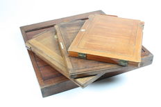 4 wooden cassettes for glass plate negatives c. 1910 large format