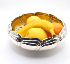 Designer silver fruit bowl, international hallmarked 900