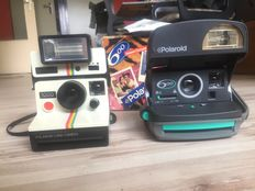 2 x polaroid instant camera - type 600 [ in box with manual ]  and type 1000