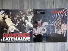 Lots of 3 Original Albums of The Ramones, 2 Lp Eaten Alive - 4 Acres, Utica, New York, 14 November 1977 Limited Color White, 2 Lp It's Alive 180 Grams, Live In Buffalo, February 8, 1979 180 Grams HQ