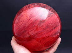 Large Strawberry Quartz sphere - 15.86cm - 4.33kg