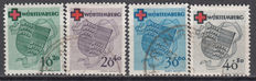 Germany French Zone 1949 – Red Cross, Michel numbers  40/43, with Hans-Georg Schlegel certificate
