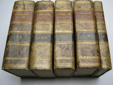 Saint Jerome - Sancti Eusebii Hieronymi Stridonensis Presbyteri Opera Omnia - 11 volumes in 5 bindings - 1864 / 1865