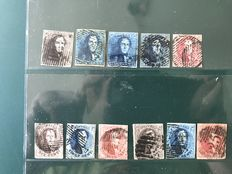 Belgium 1849/1861, selection King Leopold I - OPB 1/12