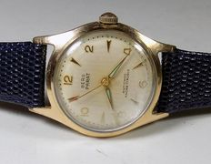Berg Parat - Germany - Striated Face - 1950 - Men's Wrisdtwatch