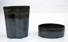 Johan van Loon - Vase and bowl made by Rosenthal