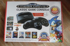 Mega drive classic game console built 80 in games 25th anniversary sonic new in very good condition